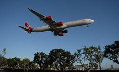 "Virgin Atlantic ""Scarlet Lady"" Jumbo Jet, Virgin Atlantic, Airplanes, Scarlet, Aircraft, Commercial, Lady, Planes, Aviation"