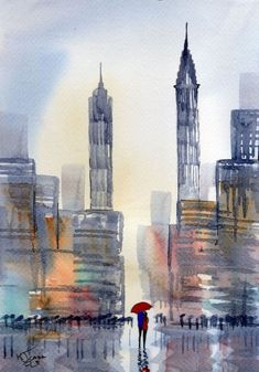 Examples-of-Watercolor-Paintings || Watercolor Painting ideas || Canvas Painting Ideas