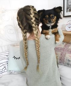 french braid | double | ombre | with hair extensions | long hairstyle | simple | easy | cute