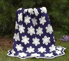 Snowflake Afghan free crochet pattern - Free Crochet Snowflake Patterns - The Lavender Chair