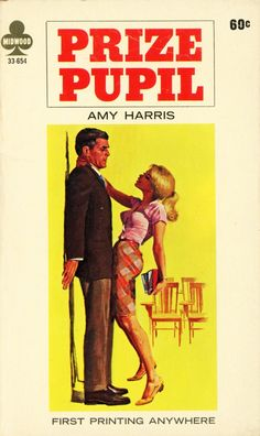 STEVE HOLLAND - art for Prize Pupil by Amy Harris - 1966 Midwood Books