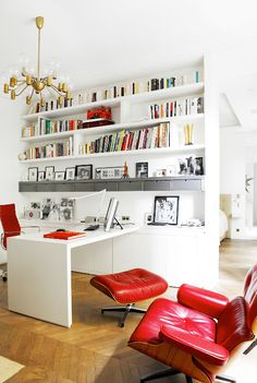 A Montmartre apartment, fully renovated and decorated by architect and interior designer Karine Lewkowicz.