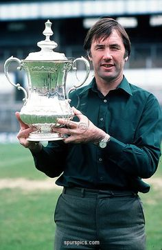 Sport, Football, Circa Tottenham Hotspur Manager Keith Burkinshaw is pictured holding the FA Cup trophy (Photo by Bob Thomas/Getty Images) Tottenham Hotspur Manager, Tottenham Hotspur Football, World Football, Sport Football, North London, Fa Cup, Military Vehicles, Bob, Game