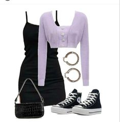 Kpop Fashion Outfits, Edgy Outfits, Retro Outfits, Cute Casual Outfits, Look Fashion, Womens Fashion, Fashion Vocabulary, Polyvore Outfits, Types Of Fashion Styles