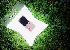 Die aufblasbare LuminAID Solarleuchte bringt 6-8 Stunden Licht ins Dunkle, ist wasserdicht und schwimmt!