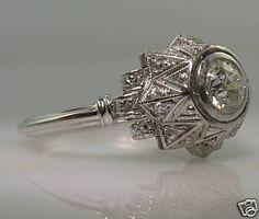 Art deco-platinum-30ct-diamond-ring-rose-cuts-vintage.