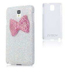 EVTECH(TM) New 3D Handmade Luxury Hot Pink Bow Bling White Cover Hard Case Clear for Samsung Galaxy Note 3 Note III N9000 Pink Crystal Cat with Flexible Head/ Cell Charms / Dust Plug / Ear Jack, http://www.amazon.com/dp/B00GLF2AHE/ref=cm_sw_r_pi_awdm_jkn1sb1BVG8P3