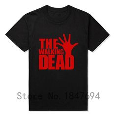 Brand Quality The Walking Dead T Shirts Men Short Sleeve  T-shirts Top Tees New Cotton Leisure Tshirts