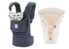 $143 - Ergobaby Bundle - 2 Items: Marine Baby Carrier and Original Natural Infant Insert