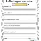 Choice Sheet for students to complete when reflecting on a poor behavior choice.Clip Art by Scrappin Doodles...