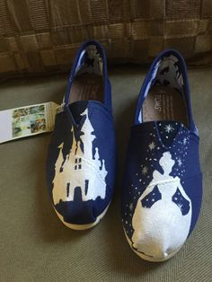 Cinderella Silhouette Toms by ButterMakesMeHappy on Etsy