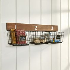 Barsby 3-Basket Organizer with Chalkboard Labels