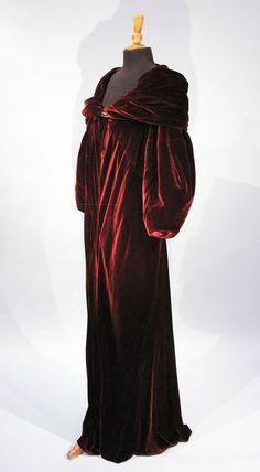 Plum Velvet Evening Coat, French 1930's