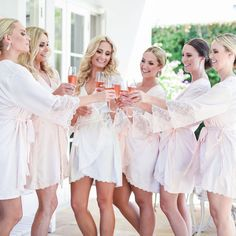 "The Little Lovebird on Instagram: ""Yay it's the weekend!! Who's off for drinks with the girls tonight?  Robes: Olivia white and blush >>>>…"""