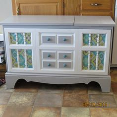 Vintage Record Player/Stereo console makeover.