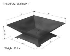 The Zilker Fire Pit 30 Steel Modern Metal Bowl Firepit Box