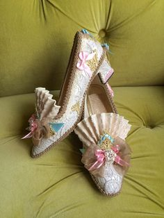 Marie Antoinette Costume Shoes Rococo Baroque by HexHeartHollow