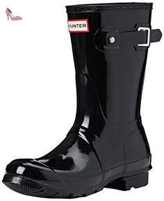 Hunter Original Short Wellies, Boots mixte adulte - Bleu (Bleu/Bleu marine), 38 EU