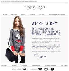Topshop email: When things go wrong