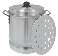 Bayou Classic 12-Quart Tamale Pot, Lid, Steam Rack 8512 New
