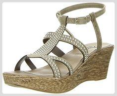 Vista Damen Römersandaletten Nieten braun, Größe:40;Farbe:Braun - Sandalen für frauen (*Partner-Link)