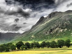 Pike O Stickle Great Langdale stock photo