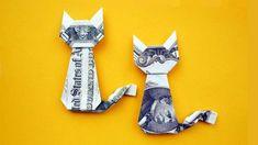 Easy Money Origami Animals - Easy Money Cat Origami Dollar Gift Idea Animal Tutorial Diy Money Unicorn Origami Animal 1 Dollar Tutorial Diy Folded No Glue Money Origami Animals Do. Cat Origami, Easy Money Origami, Money Origami Tutorial, Origami Simple, Useful Origami, Paper Crafts Origami, Oragami Money, Easy Dollar Bill Origami, Origami Gifts