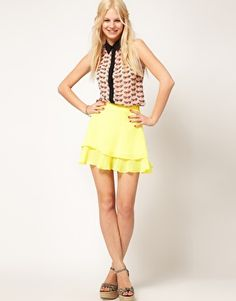 ASOS Skater Skirt With Double Layer