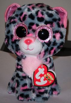 Ty-Beanie-Boos-Boos-TASHA-the-6-Pink-Grey-Leopard-2015-NEW-Release-IN-HAND