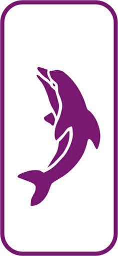 Mini Stencil - Dolphin