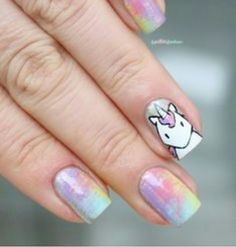 I love this! I would of added a small silver glitter French tip or alternate silver nail