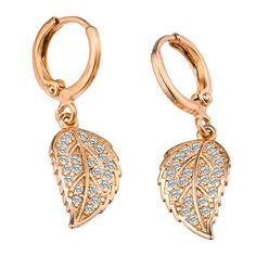 Romantic time Womens Charm Fashion Cute Elegant Leaf Dangle-Earrings Jewelry - Jewelry For Her
