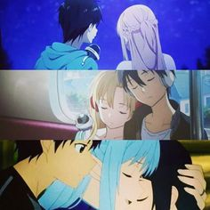 Kirito,Asuna, and Yuki