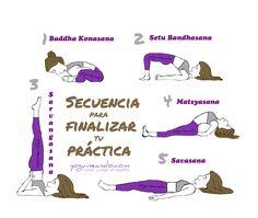 Secuencia para finalizar tu práctica y calmar el sistema nervioso. Yoguineando, humor y yoga en español
