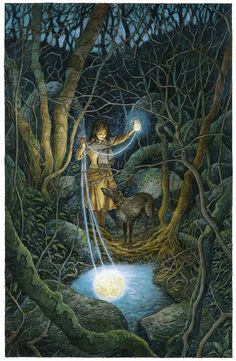 Print. Spinning Moonlight by davidwyatt on Etsy