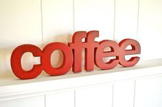 Must have for my kitchen ;)   COFFEE  Handmade Wood Sign for Home Kitchen by ShopHomegrown, $40.00