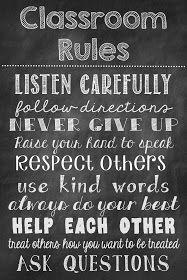 Ms. Third Grade: Classroom Rules Chalkboard Poster Freebie