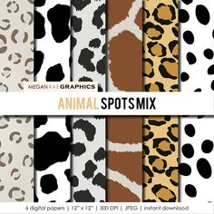 Animal spots by Olena Belchishche on Etsy