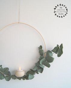 DIY Minimalist Modern Scandinavian Christmas Wreath Tutorial byMini Piccolini