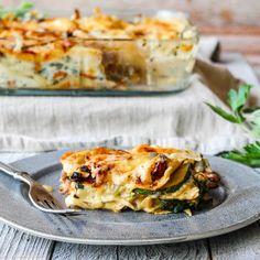 Lasagne med sopp og cheddar – Ourkitchenstories