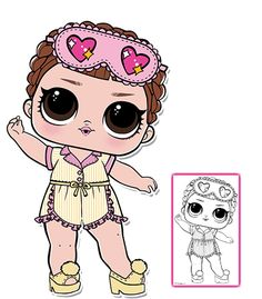 Sleeping B.B. Series 3 L.O.L Surprise Doll Coloring Page