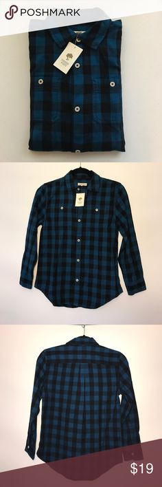 Tucker +Tate Herringbone Plaid Woven Shirt Medium NWT Tucker +Tate Herringbone Plaid Woven Long Sleeves Shirt (Big Boys-Medium) Tucker + Tate Shirts & Tops Button Down Shirts