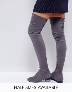 Discover Fashion Online Over The Knee Boots, Thigh High Boots, Flat Boots,  Sky c99a966af804