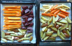 Aneta Goes Yummi: Jamieho pečená zelenina ako príloha k imaginárnemu moriakovi Asparagus, Green Beans, Vegetables, Food, Studs, Essen, Vegetable Recipes, Meals, Yemek