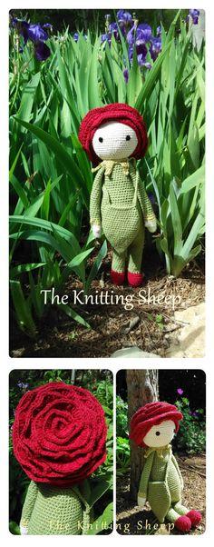 Rose Roxy made by The Knitting Sheep (https://www.facebook.com/TheKnittingSheep) - crochet pattern by Zabbez