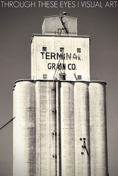 Grain elevator in El Reno, Oklahoma.  Photo by Sonia Hernandez Doneghue for Through These Eyes Visual Art.