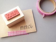 Merci Thank You Rubber Stamp, French Thank You, Perfect for Handmade Thank You Notes