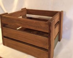 Small Wooden Slat Crate by ContemporaryVintage on Etsy