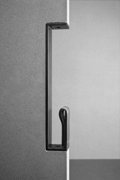 Peek Sliding Door Pull - Tom Kundig Collection – Avenue Iron Inc. Pocket Door Hardware, Pocket Doors, Barn Door Hardware, Pocket Door Pulls, Hardware Pulls, Window Hardware, Joinery Details, Interior Barn Doors, Door Design