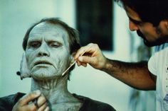 """""""Bub"""" zombie makeup by Tom Savini (Day of the Dead) Best Horror Movies, Classic Horror Movies, Horror Films, Tom Savini, George Romero, Movie Makeup, Cinema, Best Horrors, Special Effects Makeup"""